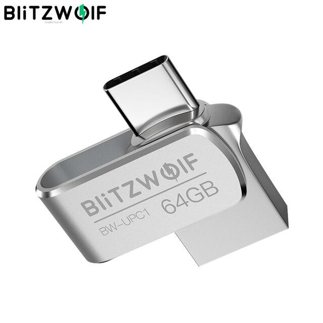 BlitzWolf BW UPC1 2 in 1 typ C USB 3.0 ze stopu Aluminium ze stopu Aluminium 16GB 32GB 64GB OTG dysk Flash USB dysk zewnętrzny