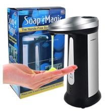 400 Ml Galvanized ABS Touchless Sensor Disinfectant Dispenser Automatic Soap Intelligent Liquid for Kitchen Bathroom