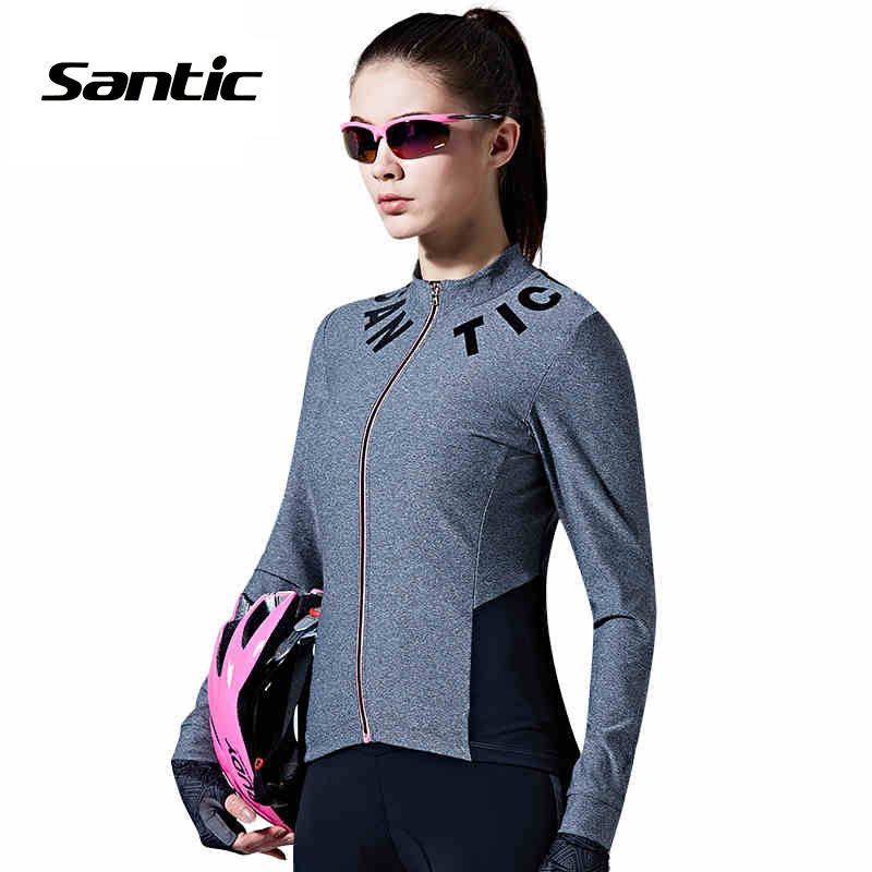 Santic Women Long Sleeve Cycling Jerseys Pro Fit N-FEEL Urban Leisure Bike Riding Shirts Ciclismo Clothing mtb Jersey L7C01078
