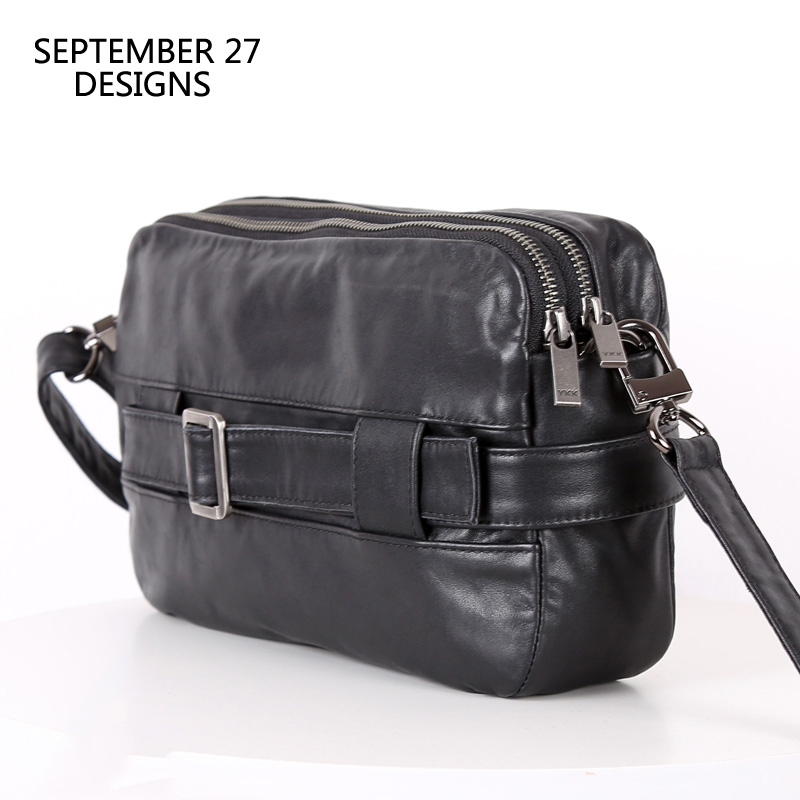 Men Messenger Bag Genuine Leather Multifunctional Clutches Bag 100 Cowhide Satchel Travel Small Shoulder Crossbody Bags