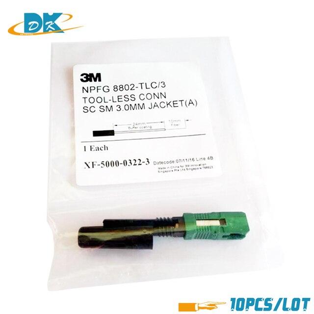 10PCS/lot Original 3M8802-TLC/3 Fiber Optic Singlemode SC Fast Connector 3M8802 fiber optic fast connector SC quick connector