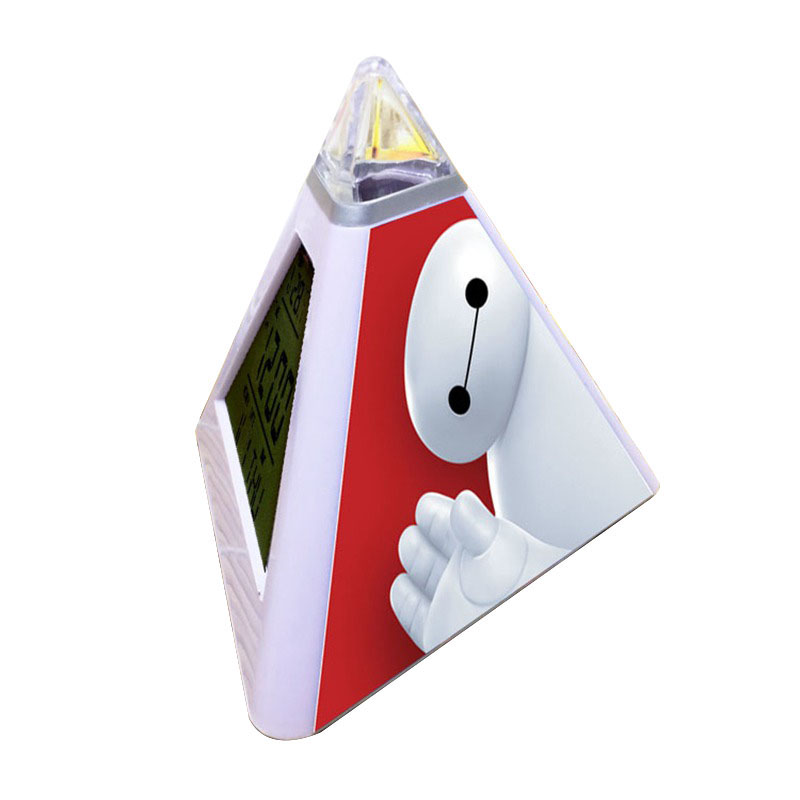 luminous pyramid alarm clock baymax led digital alarm. Black Bedroom Furniture Sets. Home Design Ideas