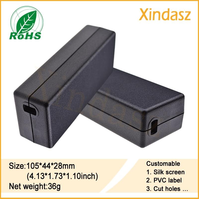 105*44*28mm Free shipping Black electronics project boxes custom plastic pcb enclosure plastic box