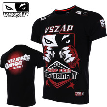 VSZAP New Men Fitness Fight Sanda T-shirt MMA Fashion Tshirts Short-sleeved UFC Fighting Sporting Muay Thai Martial Arts Workout