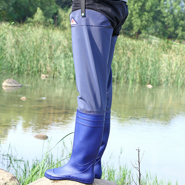 High-Jump 70cm Fishing Waders Boots 0.4mm PVC Material Breathable Unisex Useage Dichotomanthes End Non-slip Wear Fishing Wader