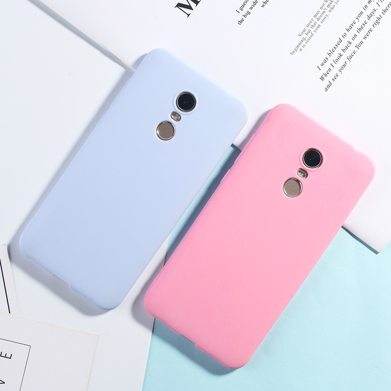 Image 2 - Silicone Case For Xiaomi Redmi 5 Plus Candy Color TPU Cases For Redmi Note 7 6 5 Pro 4X 5A Redmi 7 6 Pro 4A 4X 5A 6A Matte Cover-in Fitted Cases from Cellphones & Telecommunications