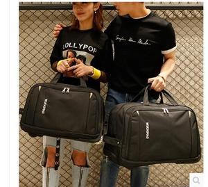 Image 2 - Mężczyźni bagaż podróżny torba kobiety Oxford walizka podróż Rolling torby na kółkach podróż Rolling torby biznesowa na kółkach torby na kółkach