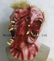 Top selling Two Half Face Latex Horror Vampire Mask for Halloween Cosplay