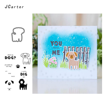 JCarter A Cute Little Dog Metal Cutting Dies or Rubber Clear Stamps for Scrapbooking DIY Embossing Folder Paper Maker Template