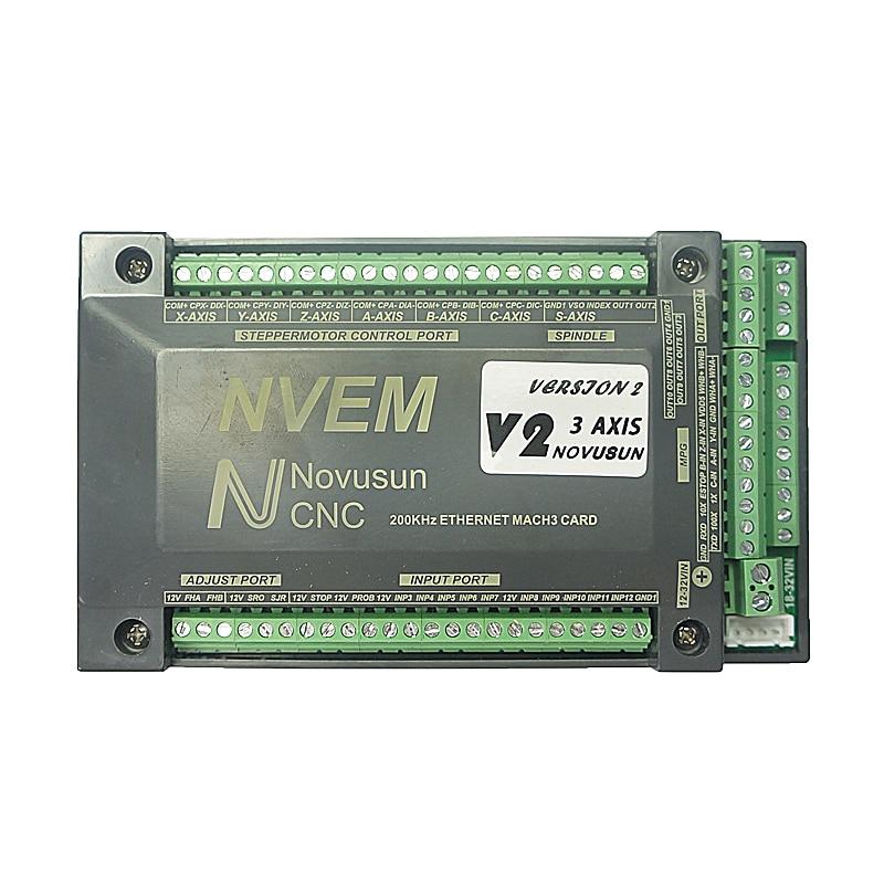NVEM Mach3 Control Card 200KHz Ethernet Port for CNC router 3 4 5 6 Axis CNC Router Router Milling Machine цены