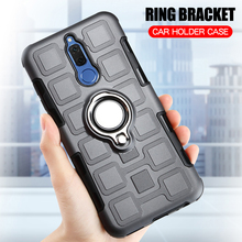 Cover For Huawei Nova 2i Silicon Shockproof Phone Case For Huawei Nova 2i Luxury Armor Anti-Fall Back Cover Ring Stand Hard Case стоимость