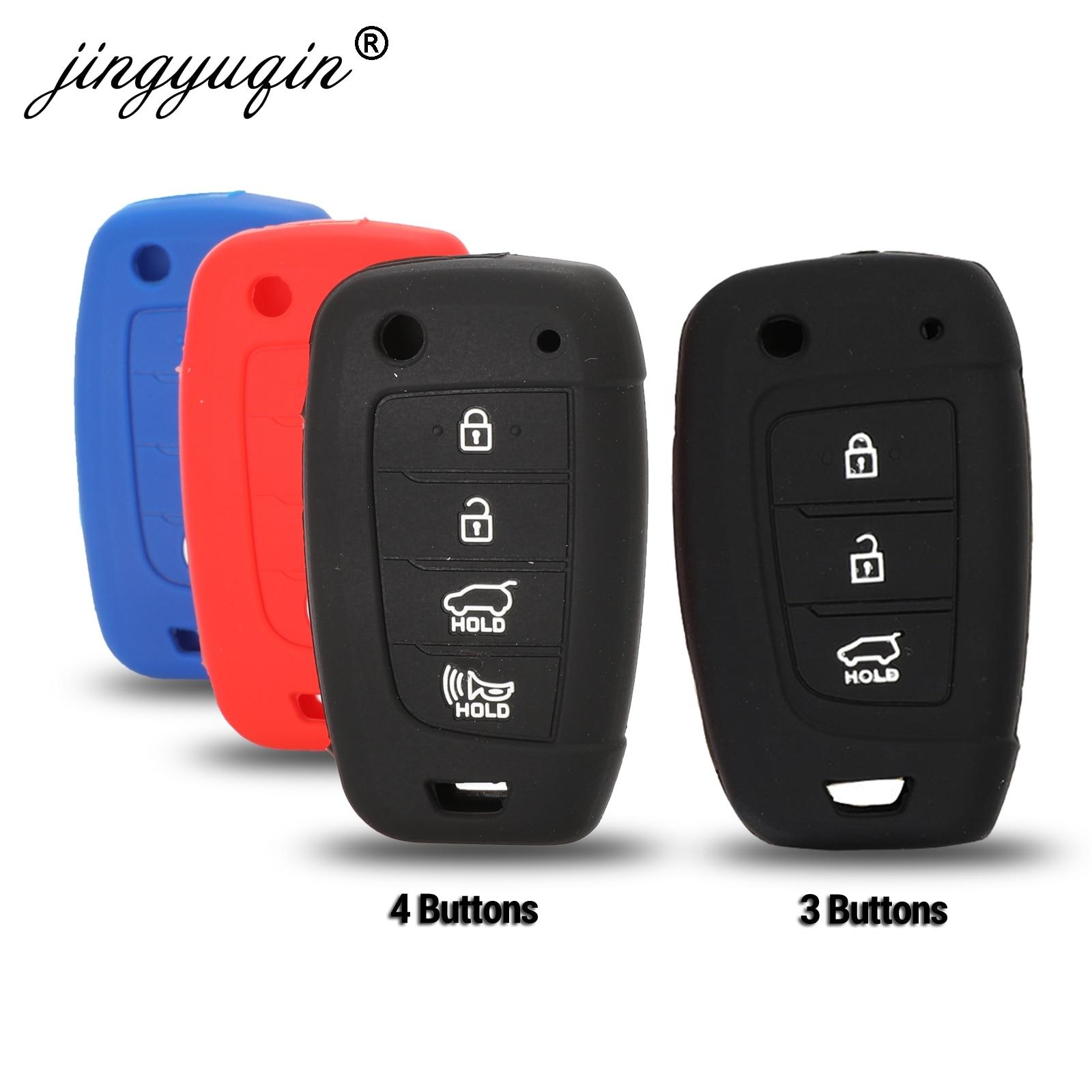 jingyuqin Car Flip Key Case Silicone for Hyundai Elantra Solaris 2016 2017 2018 3/4 Buttons Folding Remote Key Coverjingyuqin Car Flip Key Case Silicone for Hyundai Elantra Solaris 2016 2017 2018 3/4 Buttons Folding Remote Key Cover