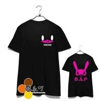 Fashion Kpop Bap B A P Memeber Name And Personal Bunny Image Printing T Shirt For