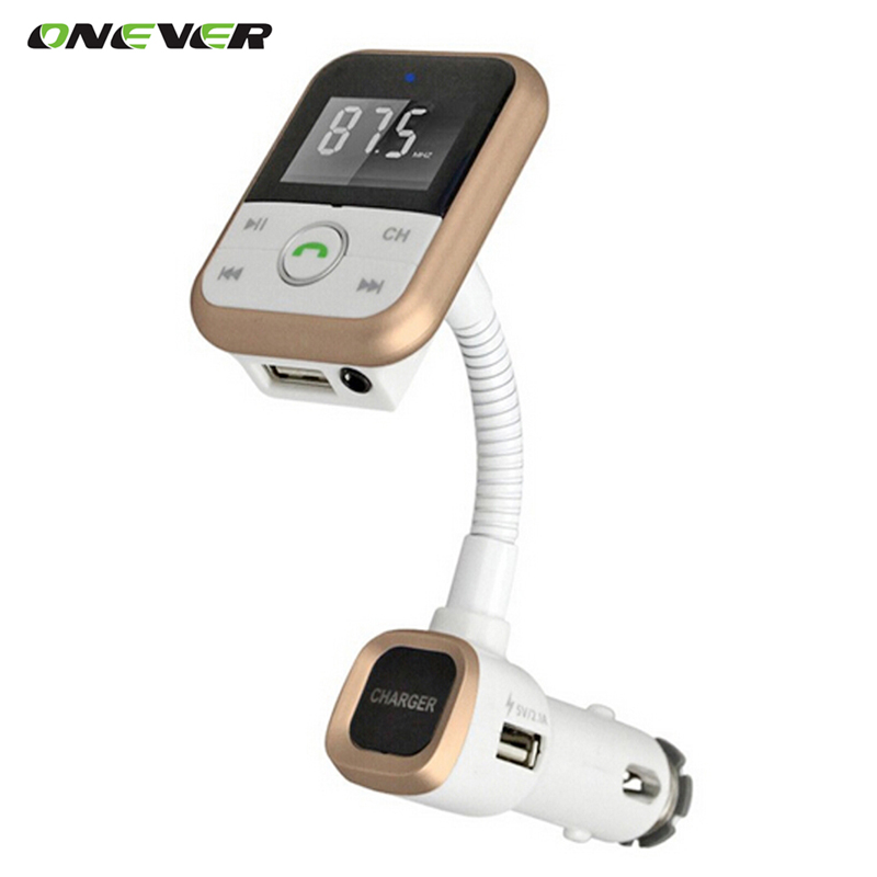 onever wireless bluetooth car kit fm transmitter with usb. Black Bedroom Furniture Sets. Home Design Ideas