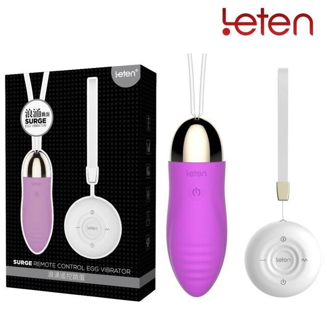 LETEN Wireless Vibrating Egg Vibrator Silent Waterproof  Surge Massager Sex Toys For Women Vaginal Anal Sex Products Masturbator