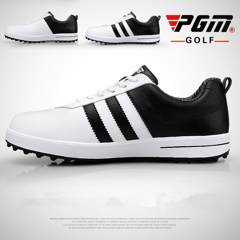 Men breathable groove patent golf shoes mens waterproof golf sports shoes without spikes anti-skid Wear-resistant golf Sneakers