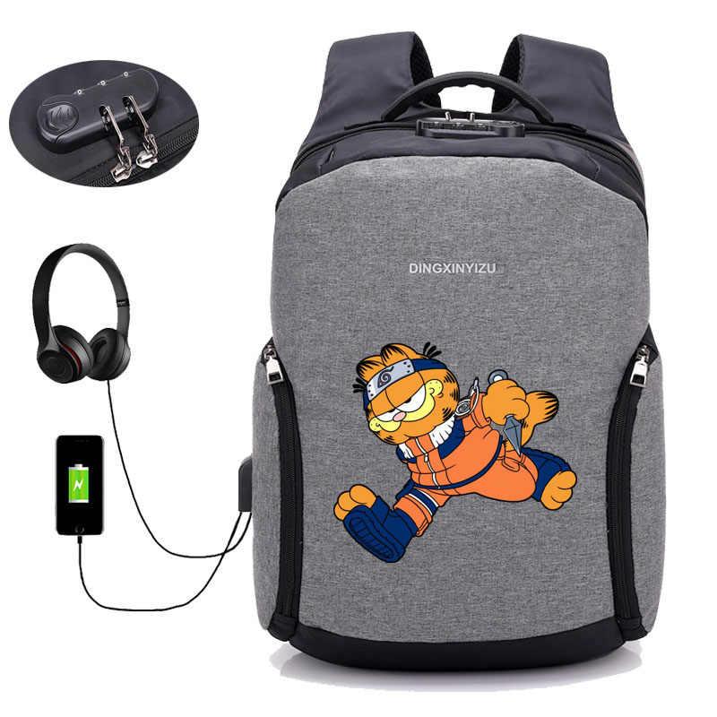 e96f37a87f57 ... Горячее Аниме Наруто мужской рюкзак для ноутбука рюкзак USB зарядка  Компьютерные рюкзаки противоугонные водостойкие рюкзак для ...