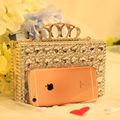 New arrive luxury chain rhinestone purse women's bag all-match handbag cross-body mini-package wedding day clutch