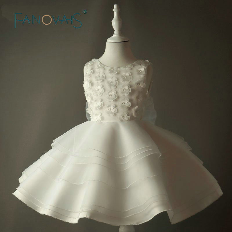 Ivory Vintage Flower Girl Dresses Kids Evening Party Dresses For Weddings Actual Imagine vestidos de primera comunion