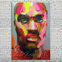 Palette knife portrait Face Oil painting Character figure canvas Hand painted Francoise Nielly wall Art picture 74