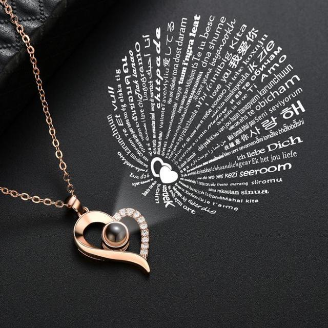 Женское Ожерелье с кулоном i love you украшение на день рождения