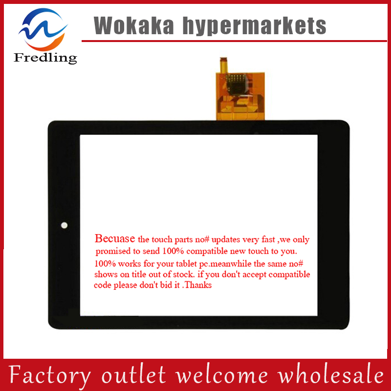 Black New (For:54.20026.017 IFC 1318) Tablet PC Capacitive Touch Screen Panel Digitizer Sensor Replacement Parts Free Shipping new 7 inch tablet pc mglctp 701271 authentic touch screen handwriting screen multi point capacitive screen external screen