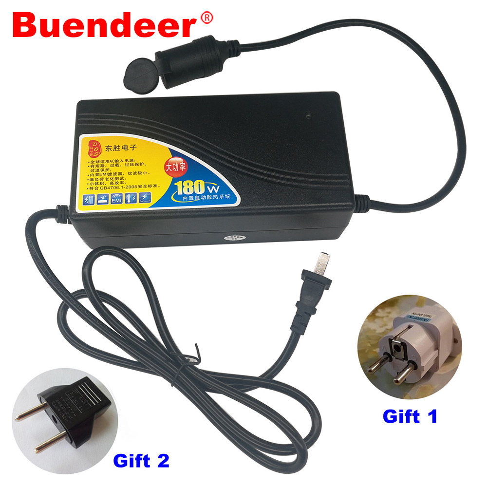 Buendeer Power-Adapter Car-Cigarette-Lighter Air-Pump/vacuum-Cleaner 180W 15A for 12V