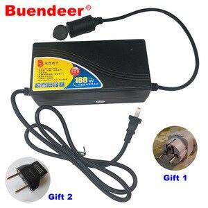 Image 1 - Buendeer 180W 15A Car Cigarette Lighter Power Adapter AC 110V/220V to 240V  Converter Inverter for Air Pump /Vacuum Cleaner 12V