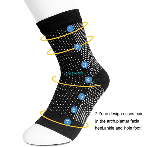 Original Quality Copper Infused Magnetic Foot Support Compression Foot Support Compression Sock for Men Women Lahore