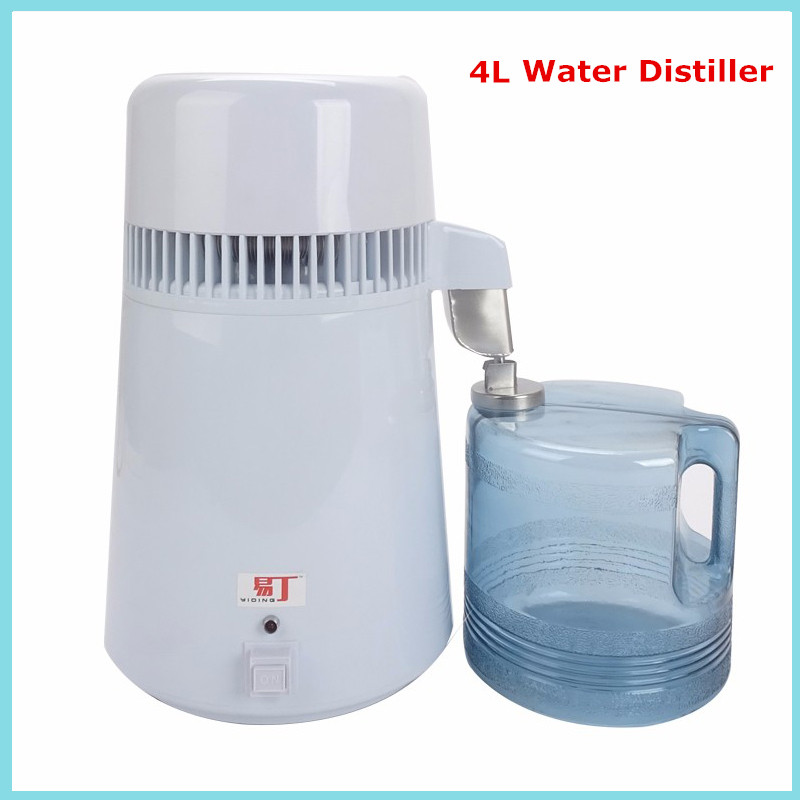 4L Stainless steel pure Water Distiller machine Water Purifier equipment water/beer moonshine distiller distillation Purifier
