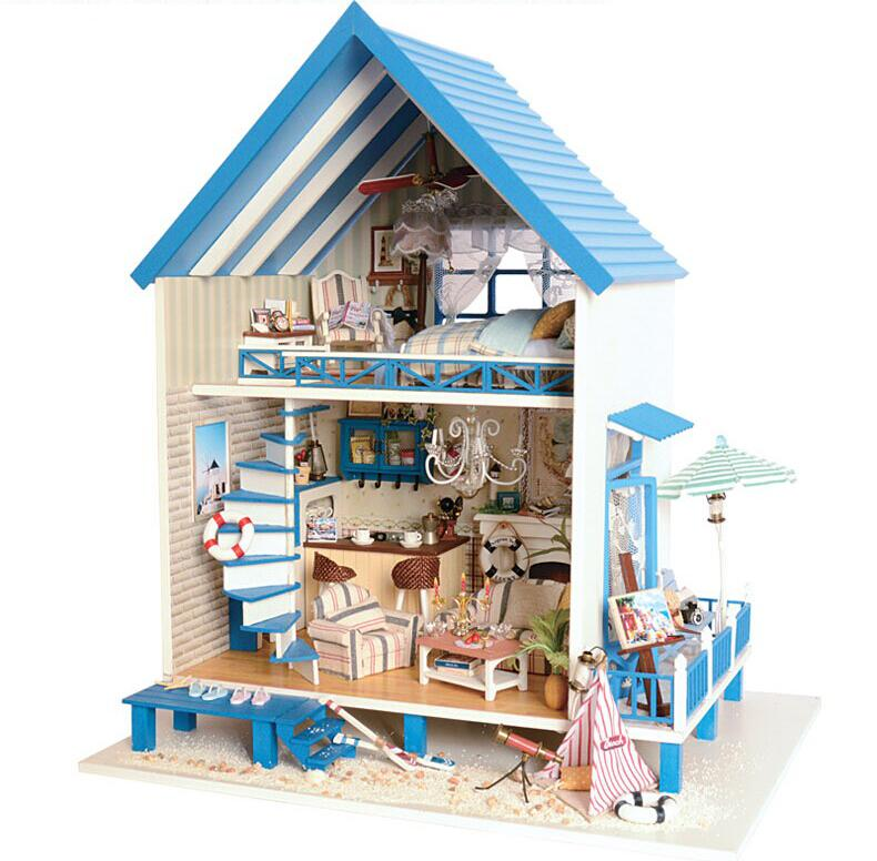 Buy Diy Doll House Home Decoration Crafts Wooden Doll Houses Miniature Diy