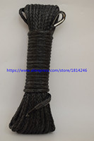 Black 5mm 15m Synthetic Winch Rope ATV Winch Line Off Road Rope Boat Winch Rope