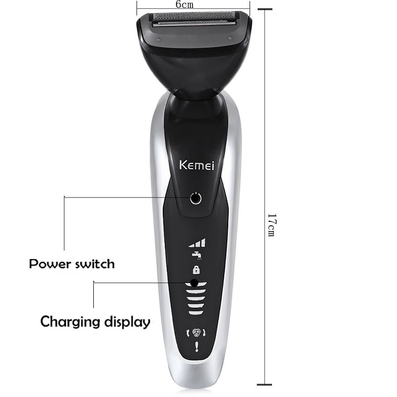 Kemei KM 8867 7 en 1 hommes 3D tondeuse à barbe multifonction rasoir Rechargeable pour hommes Machine à raser brosse à dents rasoir électrique - 2