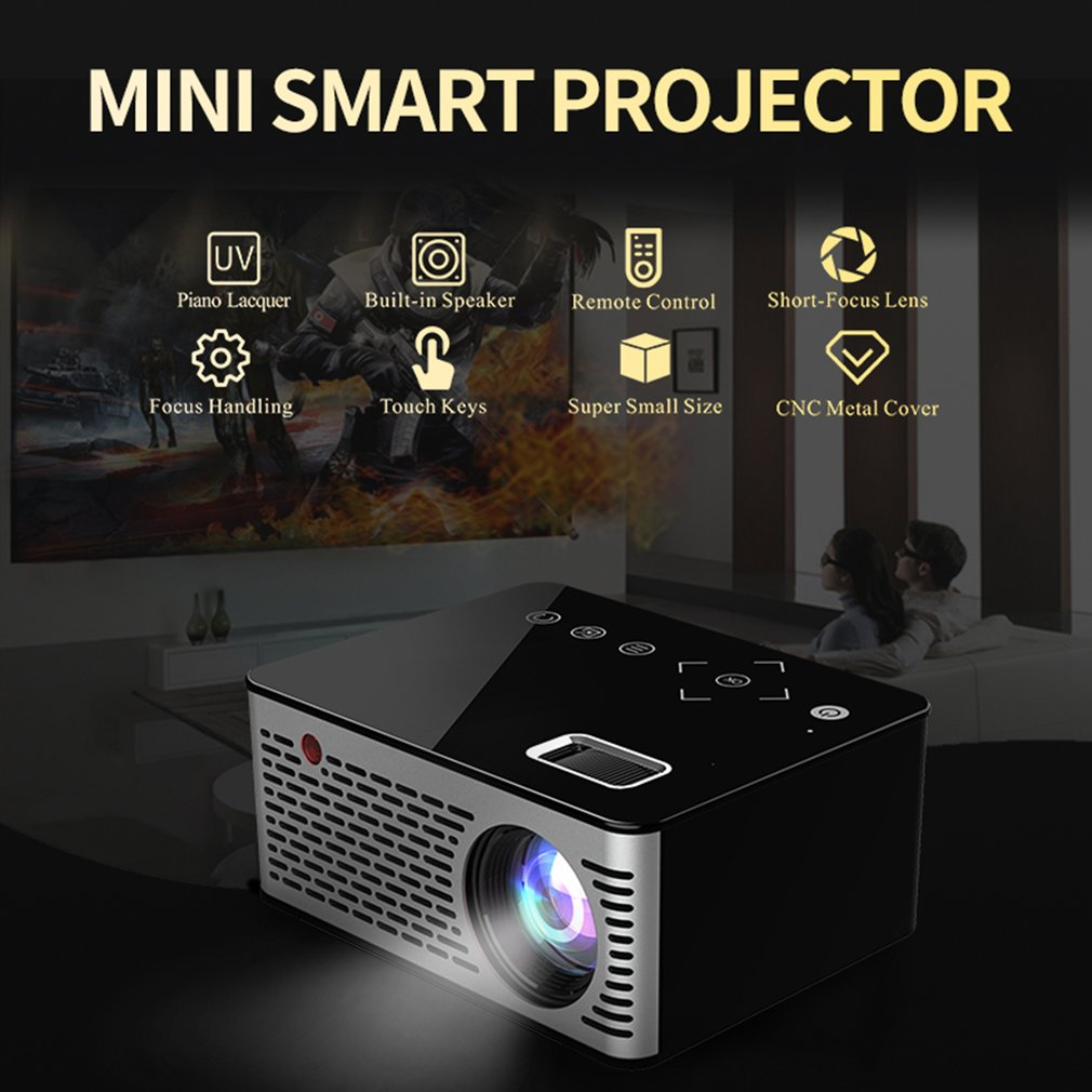 Portátil Mini Projetor 1080 P LED 2000 Lumens Projetor Full HD Home Theater Cinema HDMI VGA USB home theater 5.1 projector de vídeo