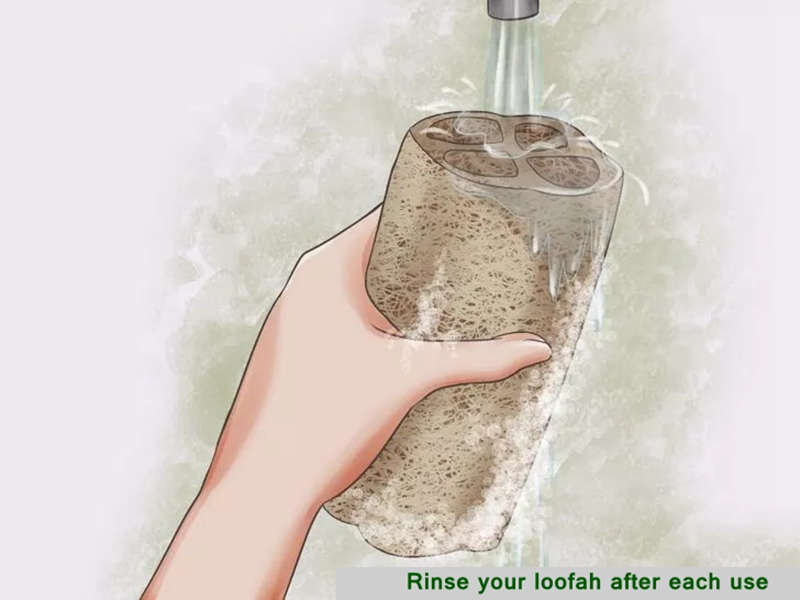 de banho Bucha Natural Luffa esponja personalizar
