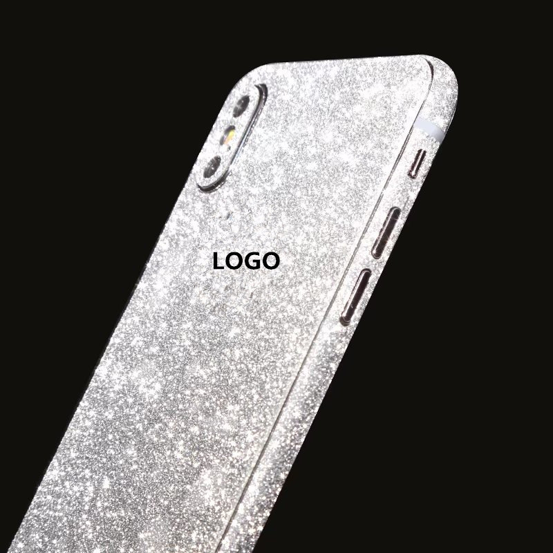 ZRICKIE for iPhone X Glitter Full Body Decals Sticker Cover for iPhone X  Bling Diamond Sparkle Wrap Skin Decal for iPhone 10-in Fitted Cases from  Cellphones ... e4187c7e0067