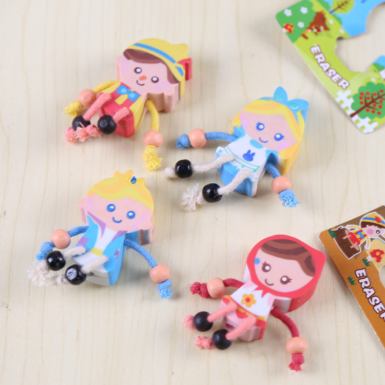 Cartoon Characters Eraser Lovely Fairy Tale World Eraser Kid Gift School Supply Stationery Material Escolar Escolares Papelaria