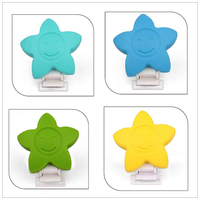 Silicone Star Pacifier Clip No BPA Food Grade Safe Silicone Teether Clip Dummy Clip Pcaifier Holder