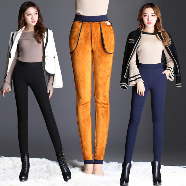 Plus Size Office Lady Slim Elegant Pencil High Waist Stretch Leggings 1