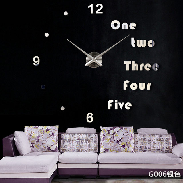DIY Wall Clock Modern Design Large Clocks For Living Room Decorative European Creative 3D Stickers Big Watch Home Decor