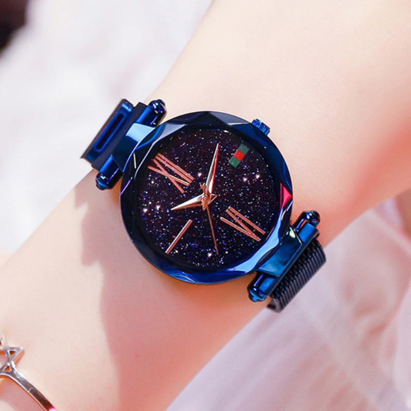 Luxury Rose Gold Women Watches Minimalism Starry Sky Magnetic Fashion Casual Female Wristwatch Waterproof Roman Numeral for Gift 5