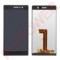 For Huawei Ascend P7 LCD Dispaly With Touch Screen Digitizer Assembly Black By Free Shipping 100