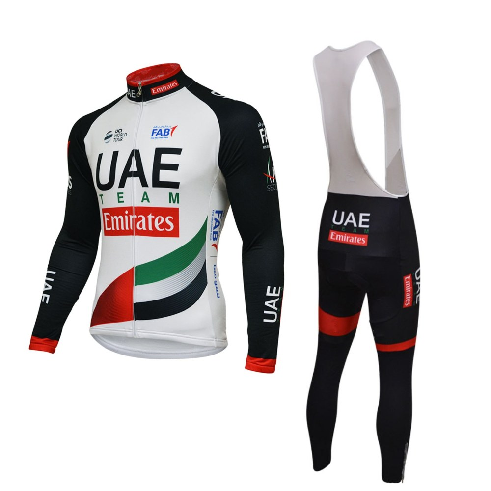 spring autumn pro team UAE cycling jerseys kits long sleeve bike clothing MTB road Ropa Ciclismo Bicycle maillot gel pad цена