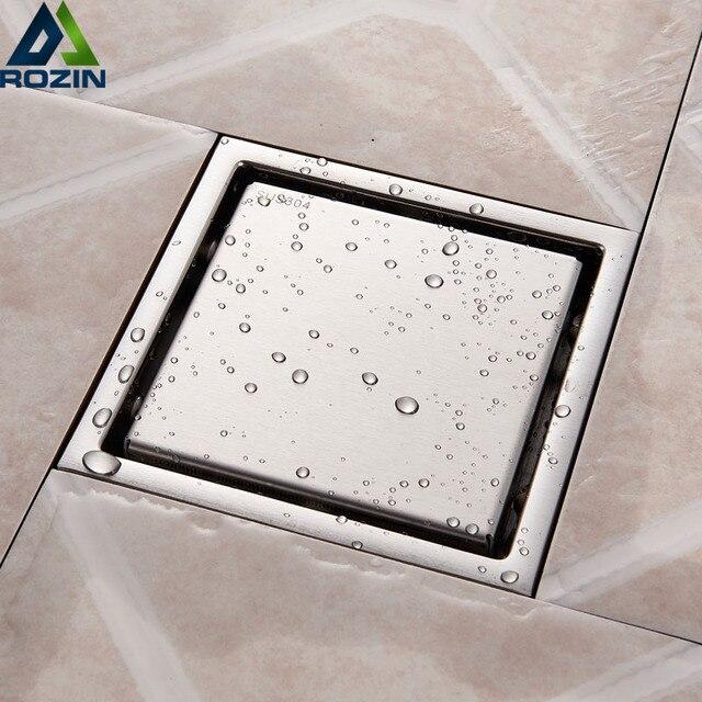 Chrome Floor Drains Stainless Steel Square Shower Floor Drains Tile
