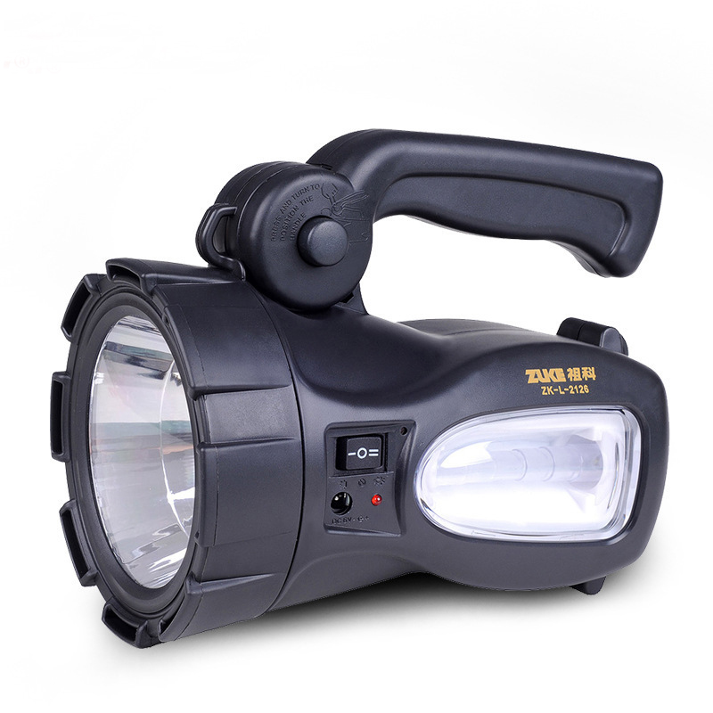 Led Rechargeable highpower Searchlight Long Range Outdoor Waterproof Flashlight Lamp Lantern Portable Spotlights with Side light led 1w 3w 5w flashlight light portable rechargeable rechargeable ultra long range outdoor long range searchlight lantern