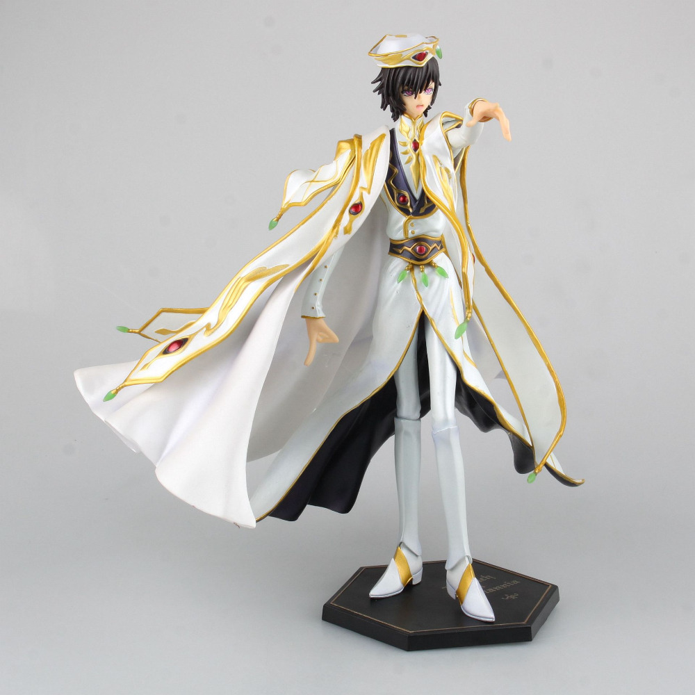 ALEN Anime Code Geass R2 Lelouch Lamperouge Britannia Knight of Zero Emperor Ver. PVC Figure Collectible Model Toy 27cm code geass lelouch of the rebellion beach ball c c anime sexy pvc action figure collectible model toy l1386