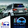 Okeen 45*30 cm ritmo mmusic decoração do carro luz lâmpada de controle de voz led som música activated equalizer adesivos luzes folha el