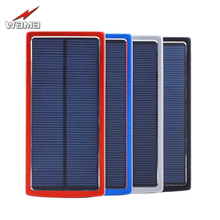 1x Wama Solar Panel Charger dual-USB Power Bank High Capacity 20000mAh Outdoors External Portable LED Light