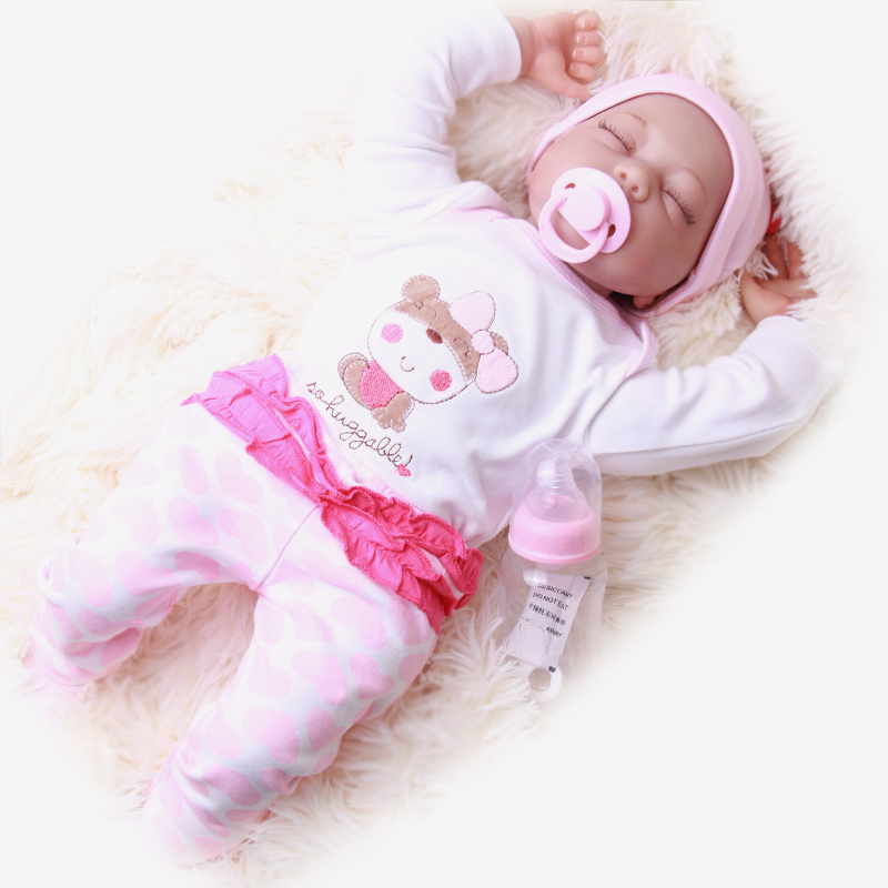 real dolls 22'' 55cm bebe alive reborn bonecas handmade Lifelike Reborn Baby Doll Girls Silicone with Pacifier child gift 55cm full silicone reborn baby doll toy real touch newborn princess toddler babies alive bebe doll with pacifier girl bonecas
