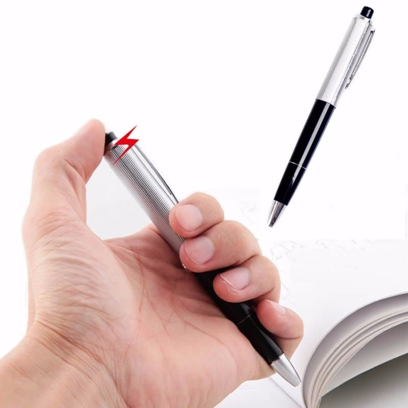 Купить с кэшбэком 1 PC Electric Shock Ballpoint Working Pen Gag Funny Gift Prank Joke Shocker